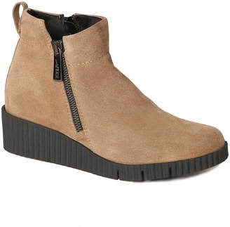 The Flexx Easy Does It Suede Wedge Bootie