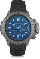 Nautica NMX Black Stainless Steel Case and Rubber Strap Men's Dive Watch