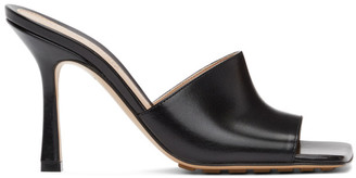 Bottega Veneta Black Stretch Heeled Mules