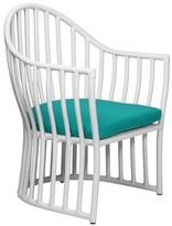 David Francis Furniture Napa Patio Dining Chair with Sunbrella Cushions Cushion Color: Melon