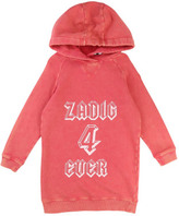 Zadig & Voltaire Blake Hooded Sweatshirt Dress