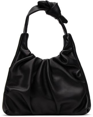 STAUD Black Leather Palm Bag