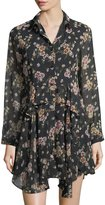 Collective Concepts Ruffled Floral-Print Dress