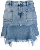 Diesel frayed denim skirt