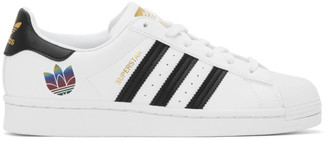 adidas White and Black Superstar Sneakers