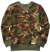 Ralph Lauren Boys 8-20 Ribbed Camo Sweatshirt