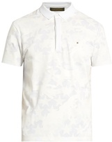 Valentino Camouflage-print Cotton Polo Shirt
