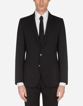 Dolce & Gabbana Stretch Wool Martini Jacket