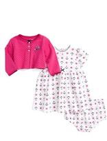Little Me Infant Girl's Anchor Dress & Cardigan Set