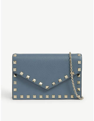 Valentino Rockstud envelope leather cross-body bag