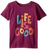 Life is Good Kids Tee Girl's T Shirt