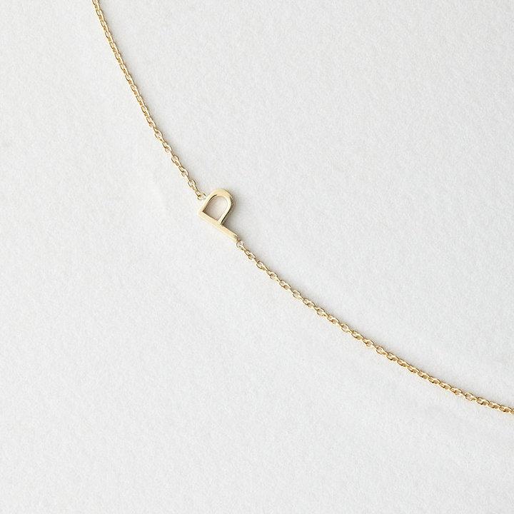 Maya Brenner DESIGNS asymmetrical mini letter necklace - p