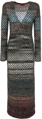 Missoni Micro Sequin Knit Wool Blend Long Dress