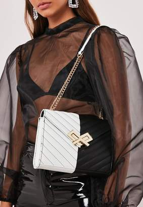 Missguided Monochrome Faux Leather Handbag