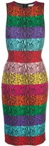 Alice + Olivia Alice+Olivia rainbow snake print dress