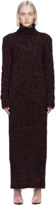 Helmut Lang Purple Ribbed Turtleneck Dress