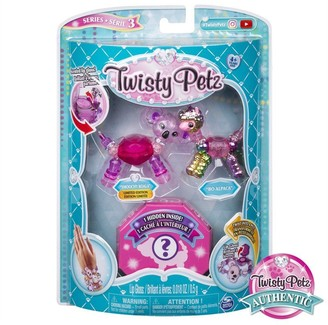 Twisty Pets Twisty Petz, Series 3 3-Pack, Smoochy Koala, Bo Alpaca and Surprise Collectible Bracelet Set for Kids Aged 4 and Up
