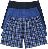 M&Co Plain and check pattern boxers three pack