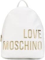 Love Moschino metallic logo backpack - women - Leather/Polyurethane - One Size