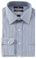 Hart Schaffner Marx Non-Iron Fitted Classic-Fit Spread Collar Striped Dress Shirt