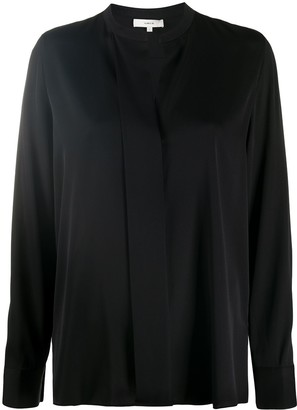 Vince V-Neck Silk Blouse