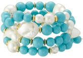 Kenneth Jay Lane Gold Tone Beads Coil Bracelet