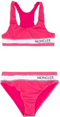 Moncler Enfant TEEN logo printed bikini