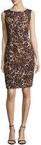 Lafayette 148 New York Abella Leopard-Print Dress, Black Multi