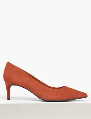 Marks and Spencer Suede Kitten Heel Court Shoes