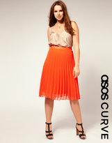 ASOS CURVE Pleated Midi Skirt