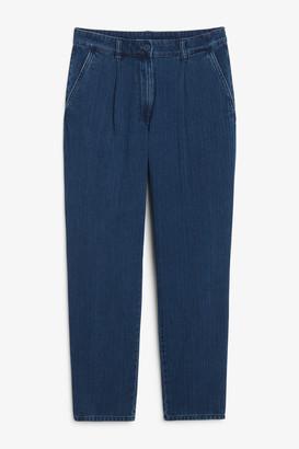 Monki Peg denim trousers