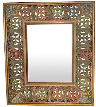 One Kings Lane Vintage Antique Indian Hand-Carved Wood Frame - FEA Home
