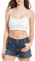 Band of Gypsies Women's Crochet Crop Top