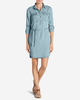 Eddie Bauer Women's Tranquil Indigo Shirt Dress