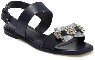 Tory Burch Delaney Embellished Double Strap Sandal