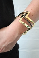 House Of Harlow Double Gold Three Stack Bangle in Gold/Black