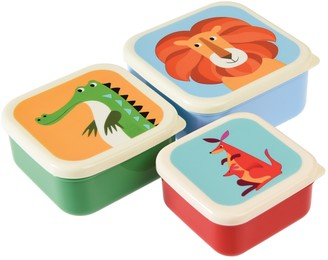 Rex London Snack Boxes Colourful Creatures Set of 3