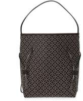 Alaia 7W1G136RC735 Black suede studded tote