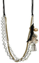 RJ Graziano Faux Pearl-Accented Tiered Chain Necklace