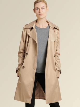 DKNY Double-breasted Hooded Trench