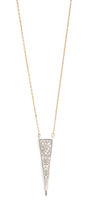 Adina 14k Gold Long Solid Pave Triangle Necklace