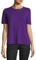 Eileen Fisher Short-Sleeve Slubby Organic Jersey Top