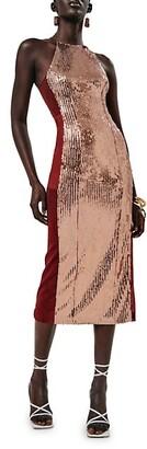 Galvan Sculpted Panel Dress
