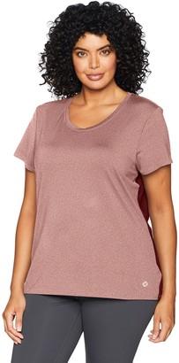 Core 10 Amazon Brand Women's Fitted Run Tech Mesh Short Sleeve T-Shirt