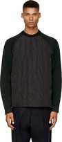 Juun.J Black & Forest Green Insulated Pullover