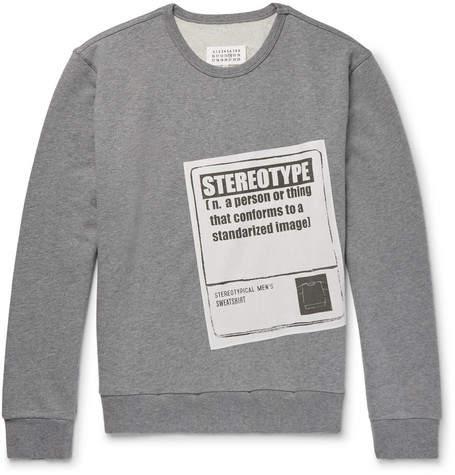 Maison Margiela Appliquéd Loopback Cotton-Jersey Sweatshirt