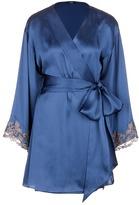 La Perla 'Maison' floral embroidered silk blend robe