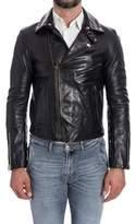 Golden Goose Deluxe Brand Men's Black Leather Outerwear Jacket.