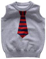 Happy Cherry Boys Necktie Sweater Vest Knit Slim Blends Sleeveless Uniforms 4T