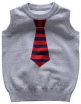 Happy Cherry Unisex Fake Necktie Pullover Round Neck Knit Sweater Vest 2T